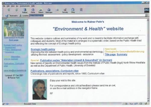 2001_02_07 fehr-web.net, Startseite