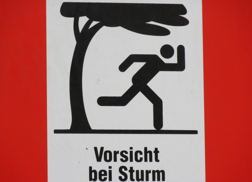 2015_09_09 Wien (A), Vorsicht bei Sturm