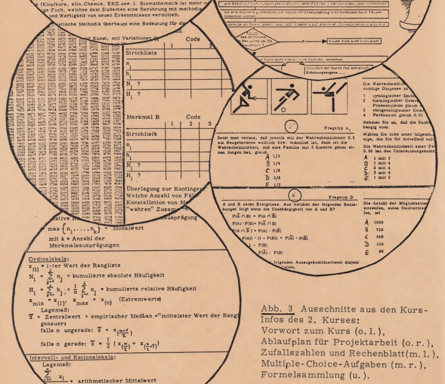 1979 UKE: Biomathematik-Kurs für Medizin-Studierende, Skript (Detail)
