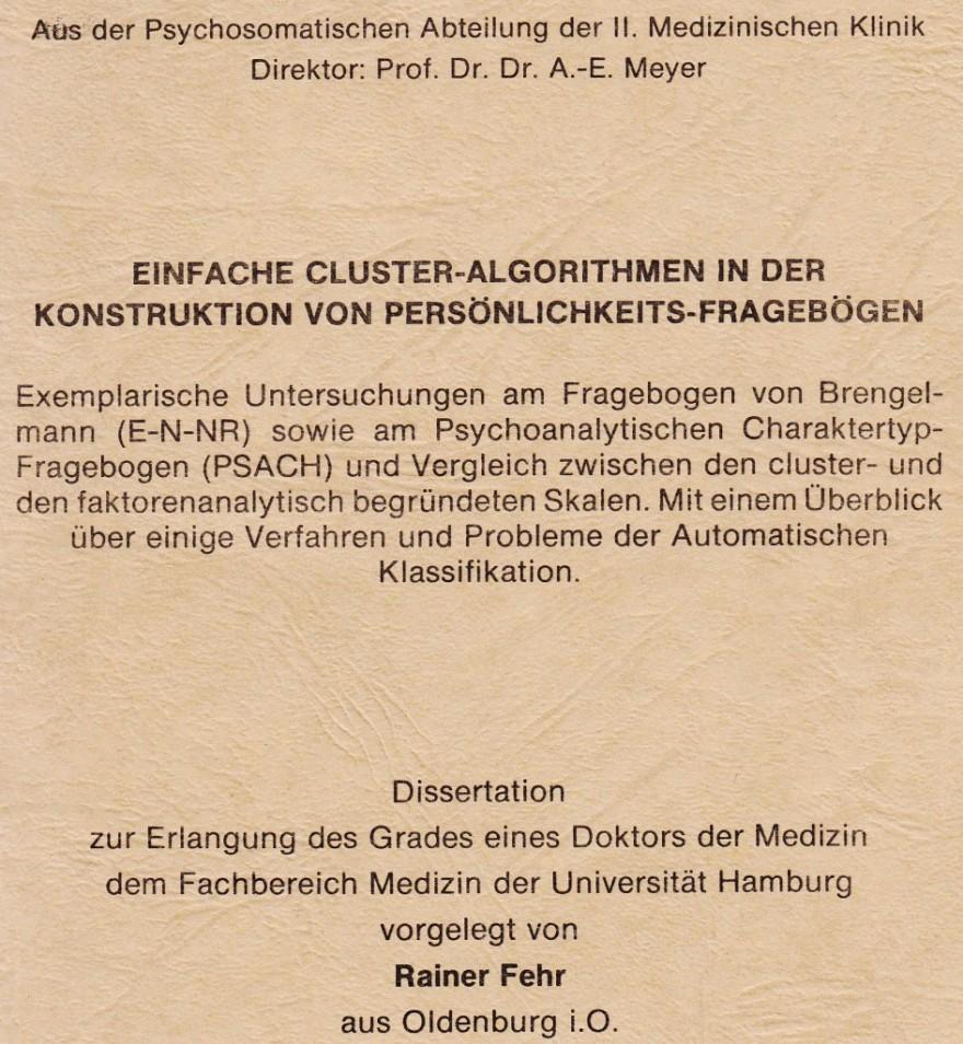 1979_06_25 Med Dissertation: Einfache Cluster-Algorithmen