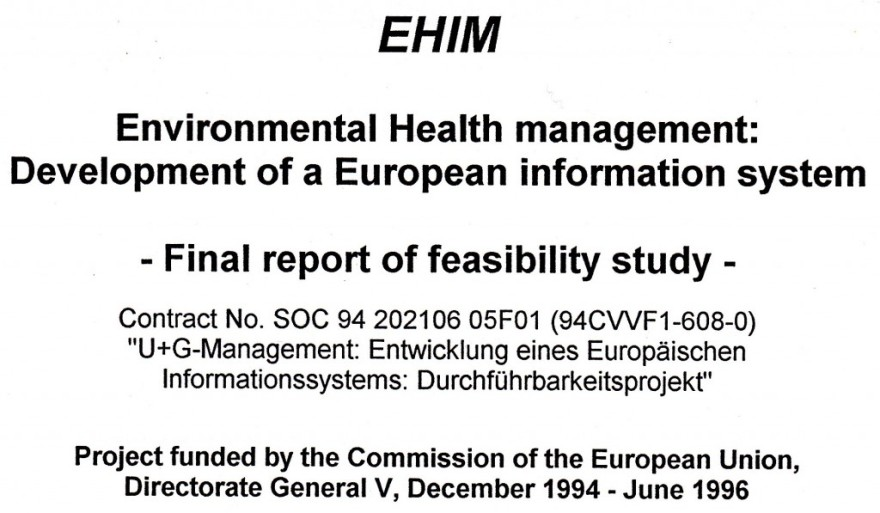 1996_06 Environmental Health management, EC project