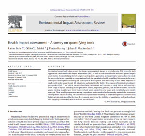 13_06 HIA - Survey on quantif tools
