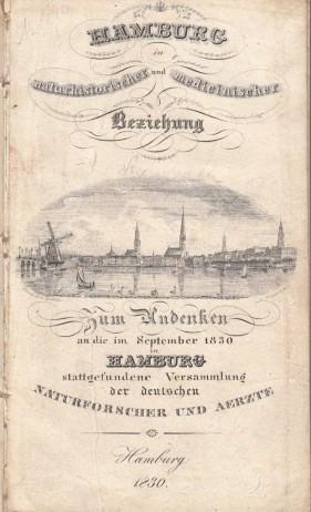 1830 Schmidt: Hamburg in naturhistorischer und medizinischer Beziehung