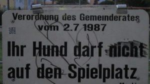 2015_09_14 Linz (A), Ihr Hund darf nicht ...