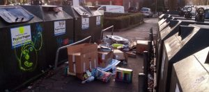 2015_12_28 Hamburg-Winterhude, Recycling-Drama