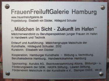 2014_02_23 Hamburg-Altona, FrauenFreiluftGalerie: Mädchen in Sicht