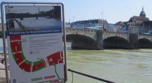 2013_07_01 Basel (CH), Wegleitung für RheinschwimmerInnen