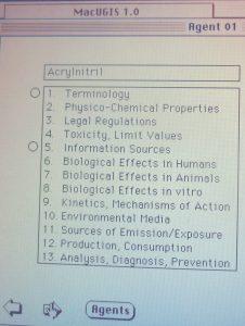 1989-1990 MacUGIS 1.0, 13 categories