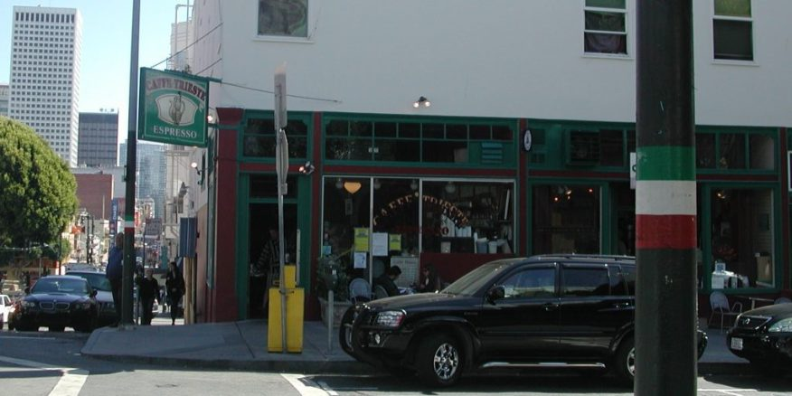 2012_09_03 San Francisco (CA), North beach: Beat poets tour 3, Caffé Trieste