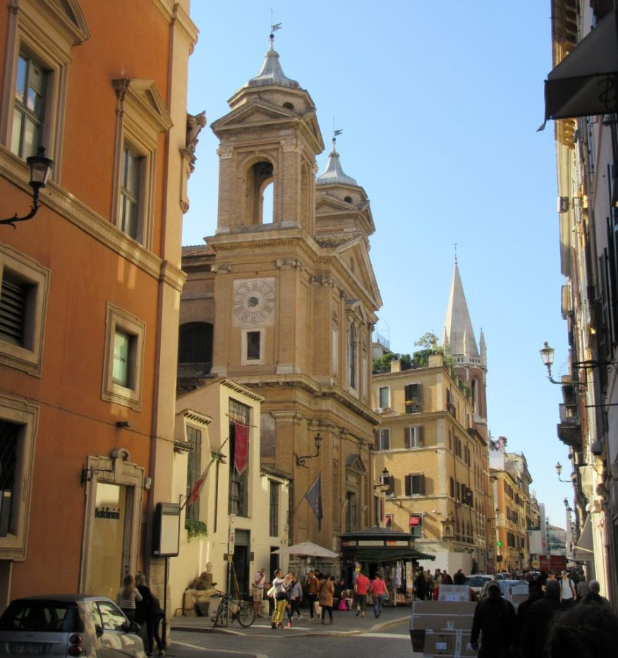 Via del Babuino mit Sant'Atanasio, Roma
