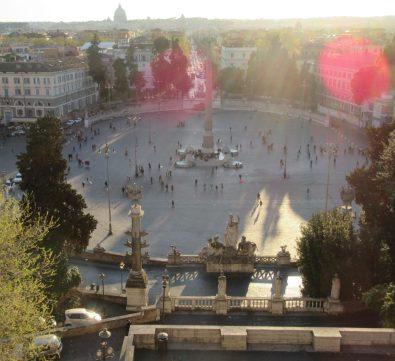 Piazza del Popolo, unterhalb des M. Pincio, Roma