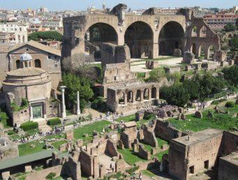Forum Romanum mit Maxentius-Basilika, Roma