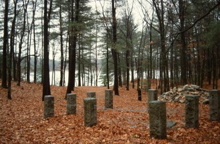 1988_11_17 Thoreau house site, Walden Pond, bei Concord (MA)