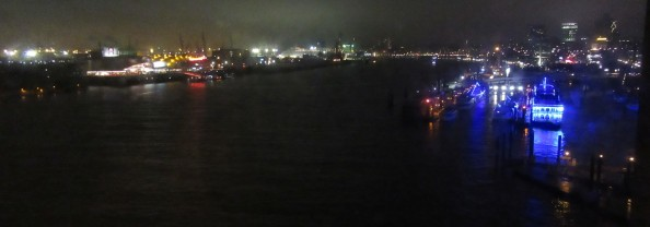 2018 Hamburg: Elbe river, from Elbphilharmonie
