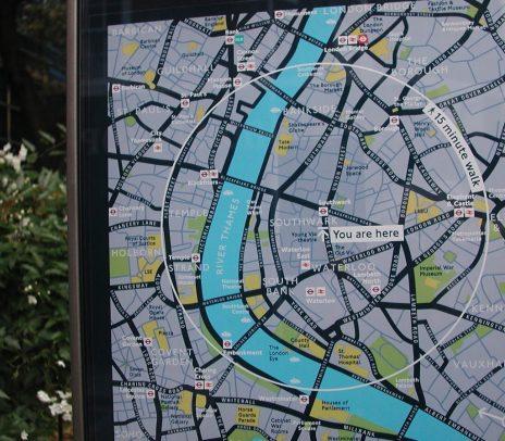 2010 London: 15 min walk