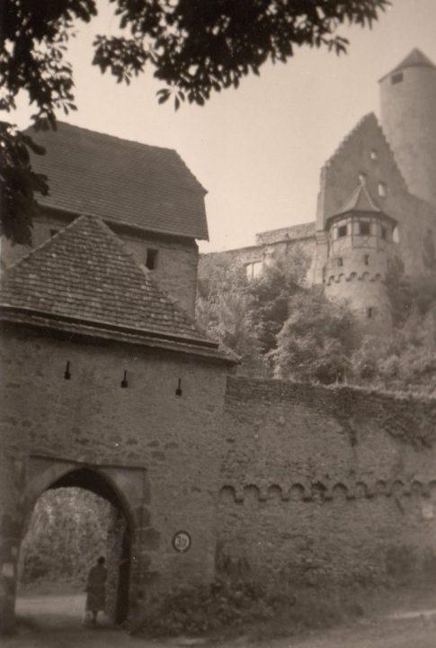 1958 Burg Hornberg am Neckar. Foto: privat