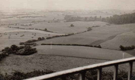 1962 Blick vom Fernmeldeturm Bungsberg