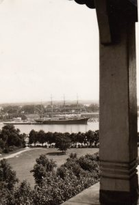 1962_07_16 Passat vom Wasserturm in Travemünde aus