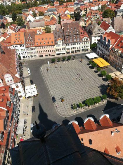 2018_08_19, Naumburg: Marktplatz, vom Wenzelsturm