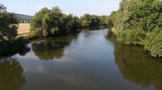 Saale, unterhalb von Naumburg