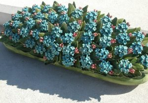 2006_03_06 Bormes-les-Mimosas (F): Keramikblumen auf dem Friedhof