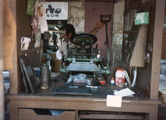 1987_01_09 Mexico City: Schriftsetzer