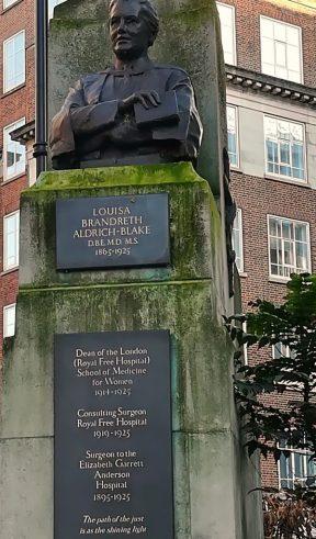 2018_12_28 Tavistock Square: Louisa Brandreth Aldrich-Blake