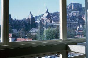 1966_10 Marburg, vom Studentenhaus aus