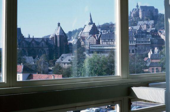 1966_10 Marburg vom Studentenhaus aus