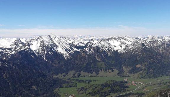 2019_05_17 Vom Wendelstein: Wettersteingebirge & Allgäuer Alpen