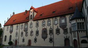 2019_08_14 Füssen Hohes Schloss mit Illusionsmalerei