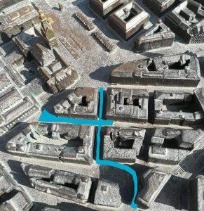2019_08_01 Hamburg-Rathausplatz: Stadtmodell zeigt die verkehrsberuhigte Zone der Altstadt