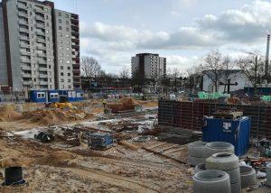 2020_02_28 HH-Mümmelmannsberg, Baustelle bei der Ubahnstation