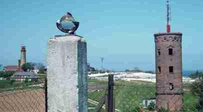 1977_05 Rügen, Kap Arkona, Marinepeilturm & Leuchtturm
