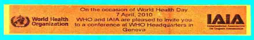 2010_04_07 WHO & IAIA