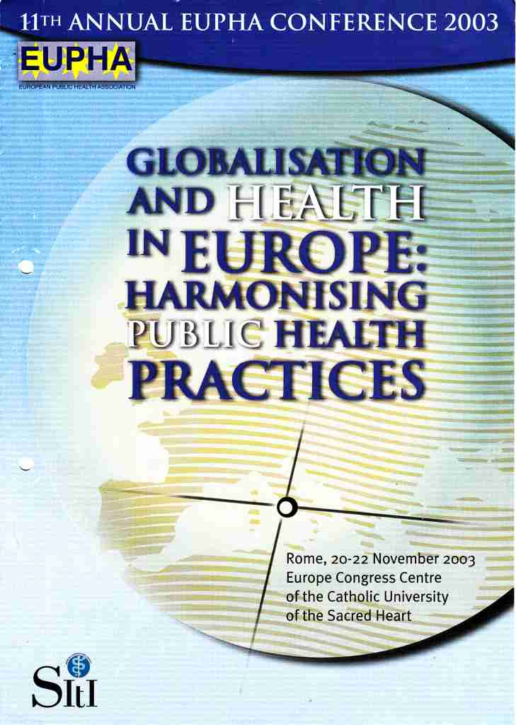 2003_11_20 EUPHA conf Rome cover 03-14