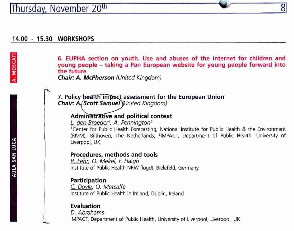 2003_11_20 EUPHA Policy HIA ws program 03_14
