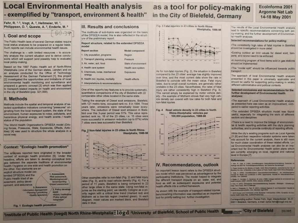 00_34 R.Fehr et al 2001 Local Env Health Analysis - Poster/Foto