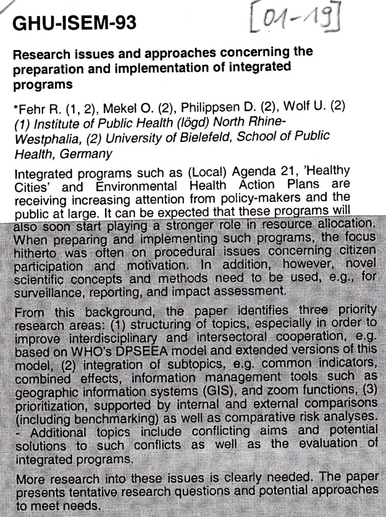 01_19 RF et al 2001 Research issues Integr programs Abstract