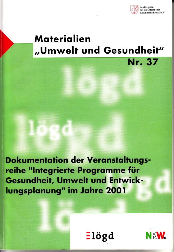 Wolf et al 2002 Veranst.reihe Int.Pro 2001 Mat Wolf et al 2002 Veranst.reihe Int.Pro 2001 Mat U&G Nr.37 p.0
