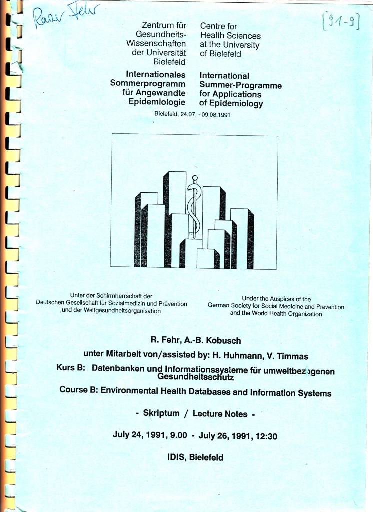 91_09 Fehr & Kobusch 1991_07_24-26 EH inf systems Lecture notes