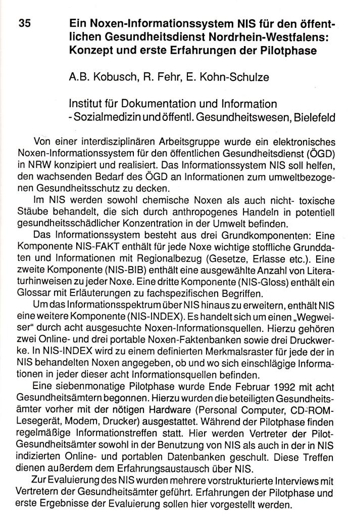 92_07 Kobusch et al 1992 NIS bei GMDS