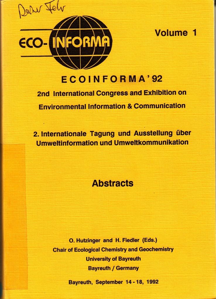 92_14 Eco-Informa '92 Bayreuth Titel 1992_09_14-18