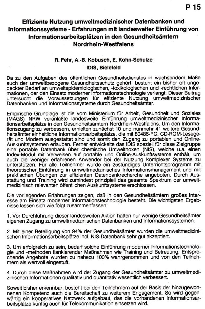93_01 Fehr et al 1993 Effiziente Nutzung