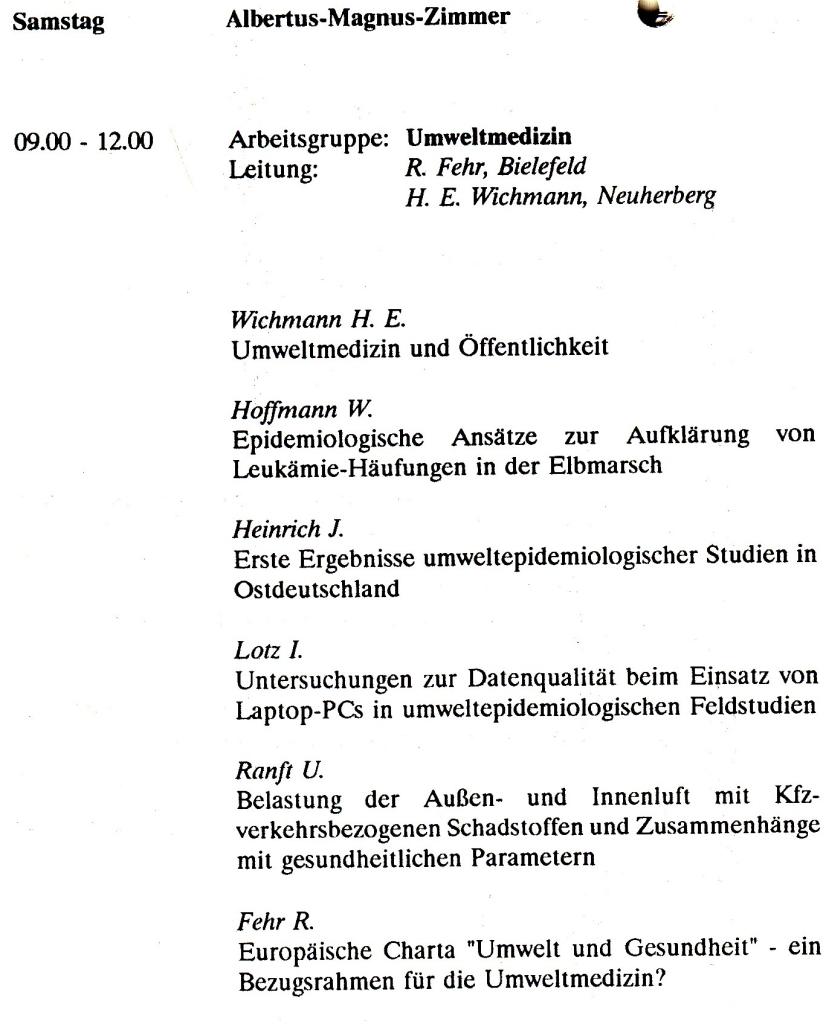 93_19 AG Umweltmedizin 1993_09_08-11