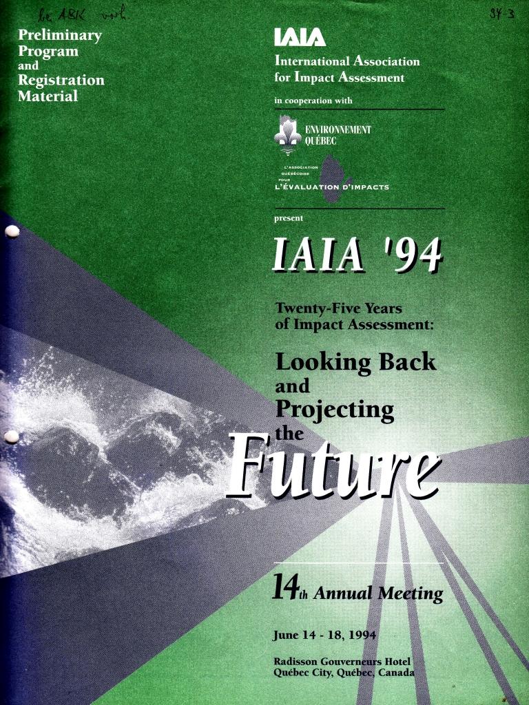 94_03 IAIA Quebec 1994_06_14-18