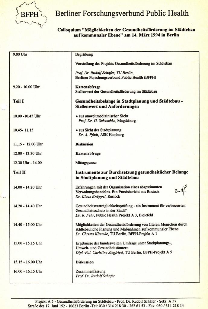 94_21 BFPH Städtebau 1994_03_14
