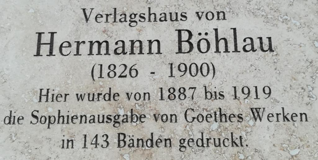 2021_07_22 Weimar, Verlagshaus Böhlau
